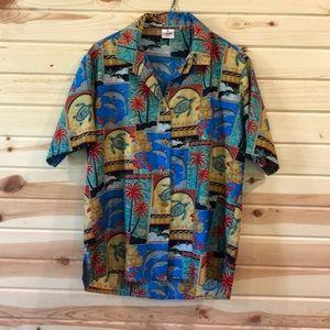 LaLeeLa tropical shirt.  Size M